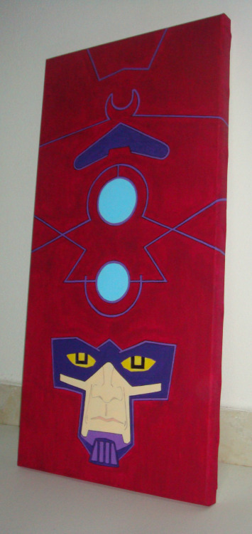 Galactus on canvas http://pegouinos.tumblr.com/