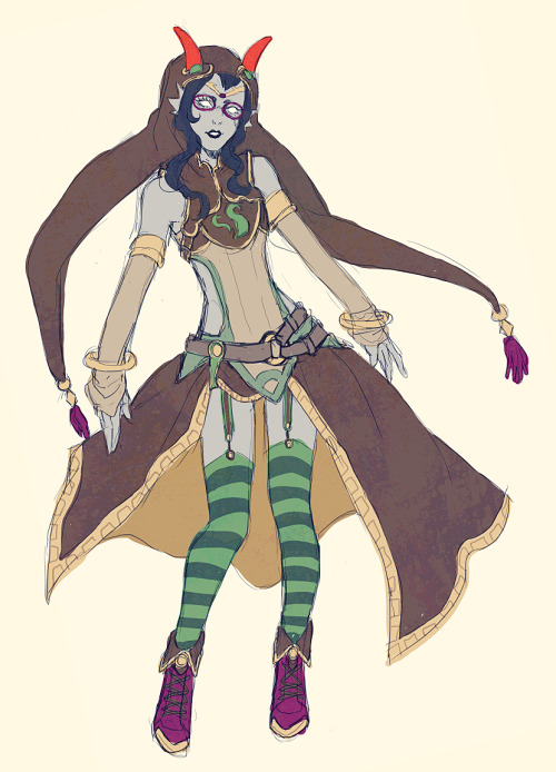 planing out Fantasystuck Feferi
