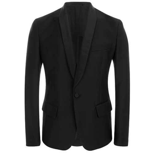 What Would Robb Stark Wear? Black Wool Mohair Tuxedo Jacket by Alexander McQueen