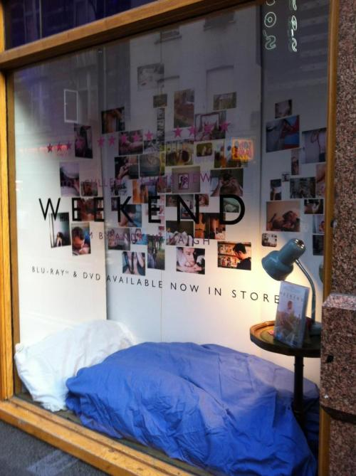 daviandave:  W E E K E N D  Window Display for the UK dvd release.