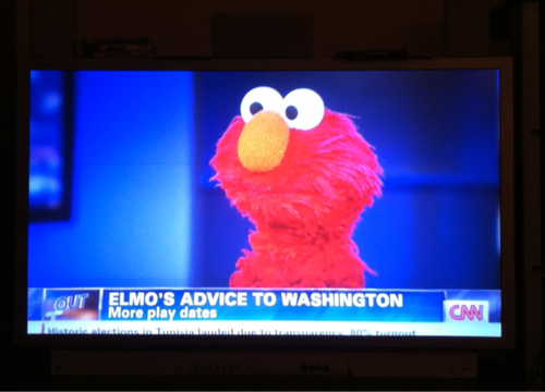 nevertoooldtolovemuppets:  Elmo's take on the matter!