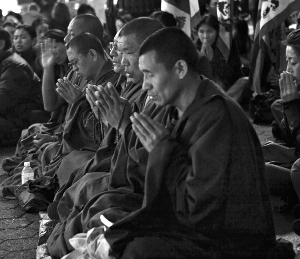 Members of the Tibetan community living in the United States and also people from other countries around the world joined in a demonstration held in Union Square against China where they demanded a 'Free Tibet'.  Manhattan 2012