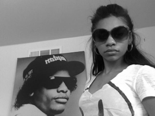 Eazy-E's daughter, Erin. She's bout that life.