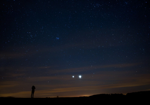 Jupiter and Venus snuggled up to each other just for Erin's birthday