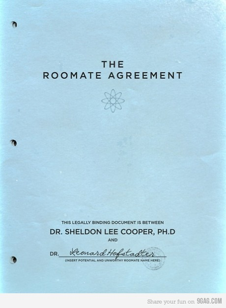 9gag:  The Roomate Agreement