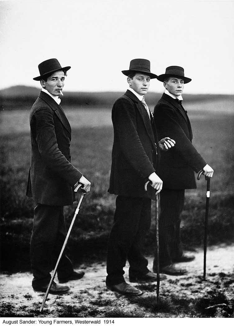 Young farmers, 1914. Photo by August Sander.