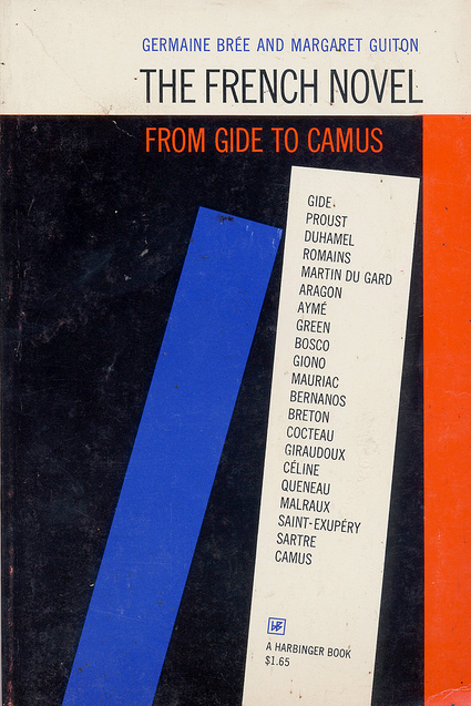 The French Novel: From Gide to Camus. Vintage cover, via Montague Projects.