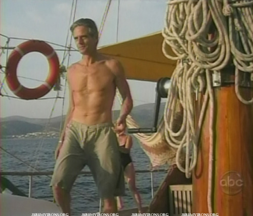 Shirtless Jeremy Irons