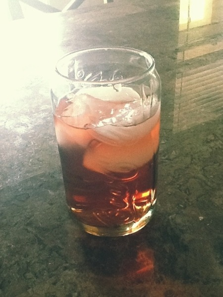 Welch's in a Coke glass