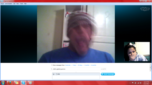 skyping my step brothaaaa gabe <3