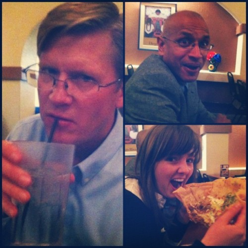 Just your usual professors & students dinner. They are knuckleheads! :)  (Taken with instagram)