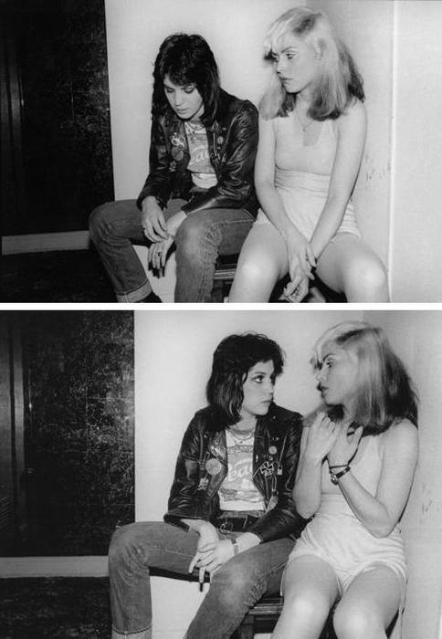 suicideblonde:  Joan Jett and Debbie Harry