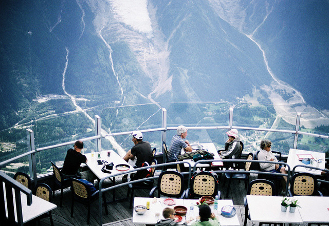 | ♕ |  Observation deck - Chamonix  | by © Valeria Lazareva | via ysvoice  This photo and the next post were shot at the exact same time, but by the totally different photographers. Coincidence?