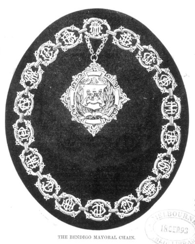THE BENDIGO MAYORAL CHAIN. September 1, 1893