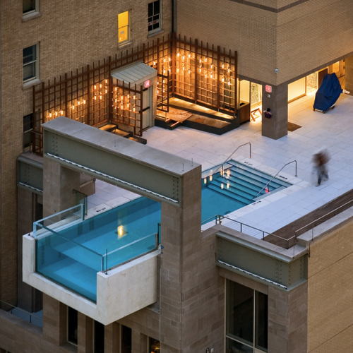 hanging pool in dallas