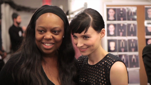 Pat McGrath and Rooney Mara @ Calvin Klein Fall 2012