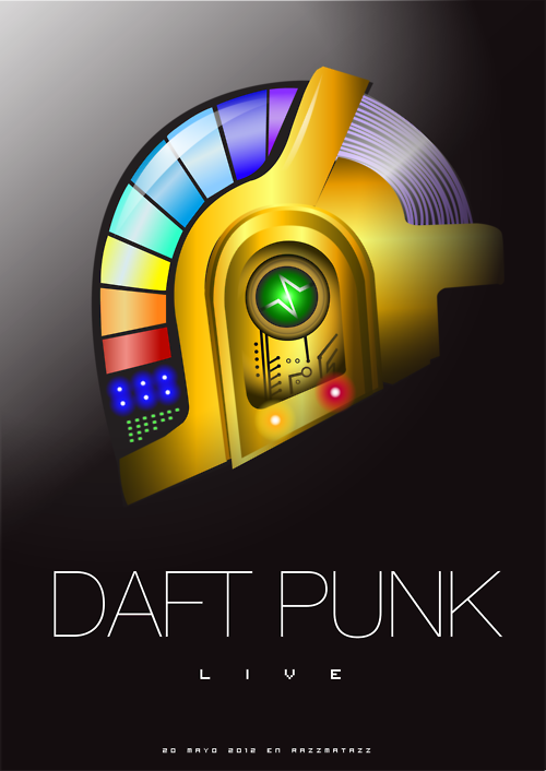 Daft Punk helmet vector for a college assigment.