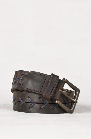What Would Robb Stark Wear? Blue Plaited Leather Belt by Massimo Dutti