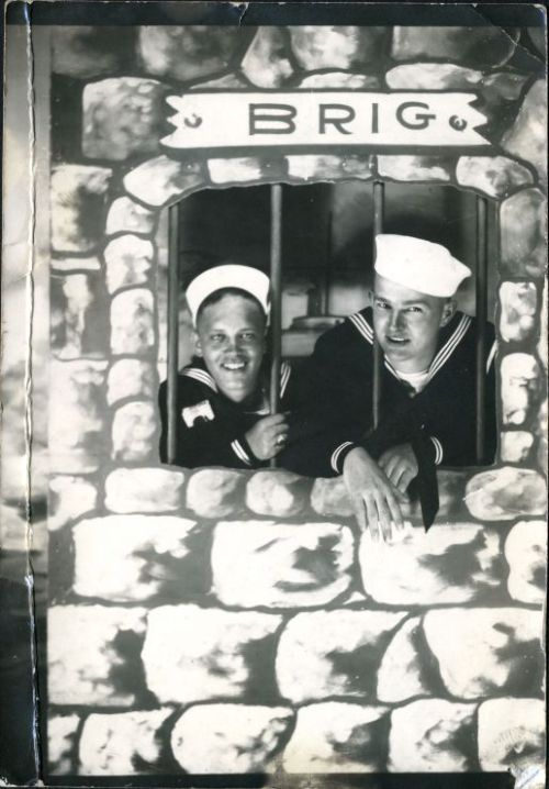 In the brig - vintage arcade photo