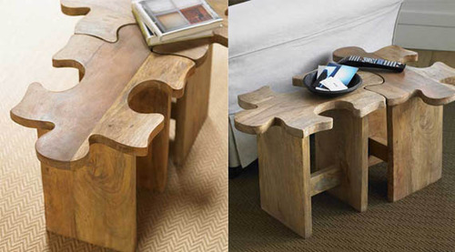 homedesigning:  Jigsaw Coffee Table