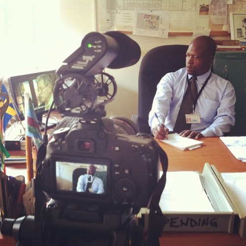 Sharing #kony2012 and interviewing local leaders (Taken with Instagram at Gulu, Uganda)