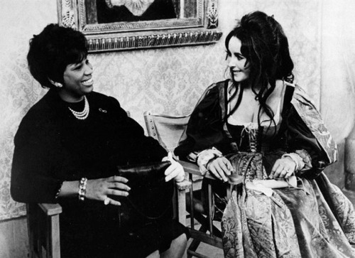 Greatness is a choice. Legendary opera soprano Leontyne Price & Elizabeth Taylor | On set of Taming of the Shrew