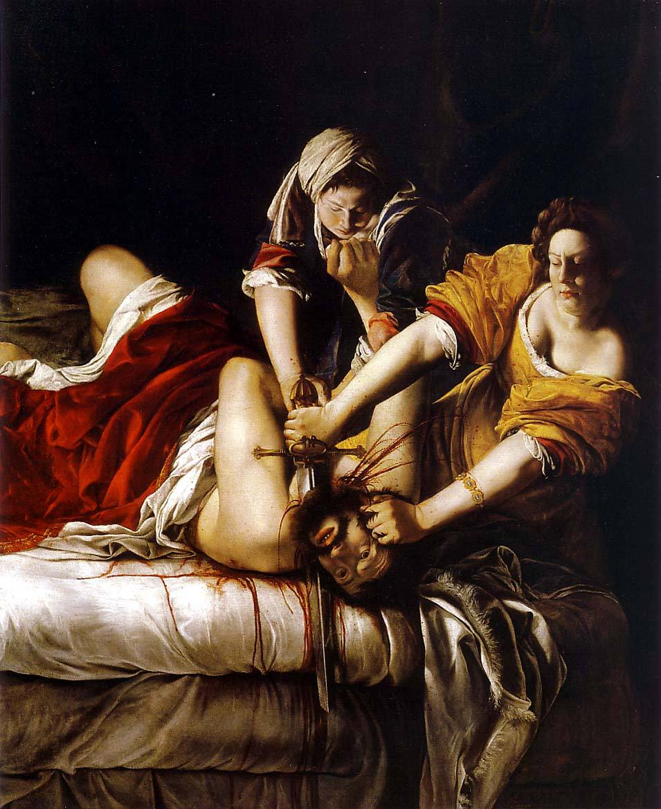 Artemisia Gentileschi - Judith Beheading Holofernes, 1620. Oil on canvas