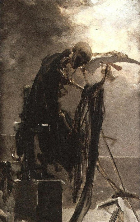 Allegory of Death, 1895, Maximilian Pirner