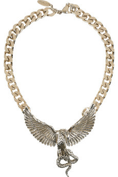 I love this necklace! The snake vs. eagle design is a powerful statement piece.