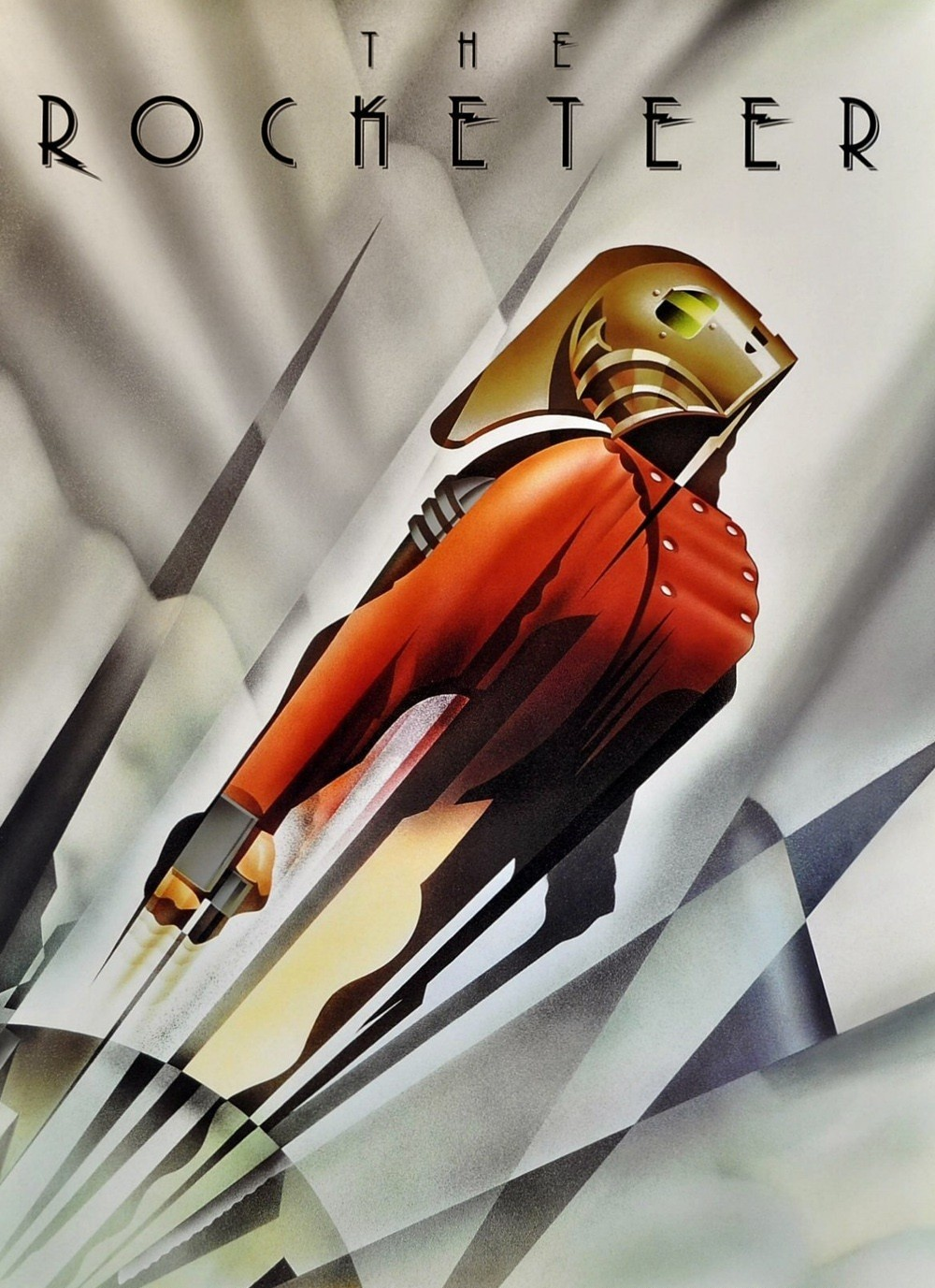 The Rocketeer; Theatrical poster designed/illustrated by John Mattos (1991)