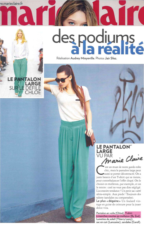 BY ZOÉ SS12 in Marie Claire France