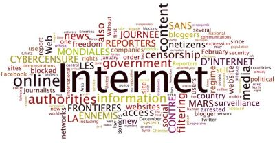 "The Battle Over Online Freedom Continues The clash between citizens and governments over online freedom of expression is growing, according to a new report by Reporters Without Borders. Called Beset by Online Surveillance and Content Filtering, Netizens Fight On, the study explores how both authoritarian and democratic governments attempt to control online activity. To do so, the authors label a number of countries such as Syria, Uzbekistan, Vietnam, Bahrain, Iran and Turkmenistan among others as ""Enemies of the Internet""; and say countries such as Australia, France, Egypt, Eritrea and India among others are ""Countries Under Surveillance."" Through this lens, the report's authors declare, ""More than ever before, online freedom of expression is now a major foreign and domestic policy issue,"" and outline how: Internet and mobile phone shutdowns are occurring more frequently Content filtering is increasing Content removal is increasing Pressure on Internet Service Providers and Web site owners to police content is increasing Surveillance is more effective and more intrusive Government propaganda is increasing Cyber attacks are increasing Arrests, raids and roundups are increasing While not a pretty picture for online freedoms the report does include examples of how citizens are fighting back. For example:  In order to combat increasingly competent censors, self-styled ""hacktivists"" have been giving technical assistance to vulnerable netizens to help them share information in the face of pervasive censorship. The campaigns on behalf of the Egyptian blogger Maikel Nabil Sanad and Syria's Razan Ghazzawi have transcended international borders. The hashtag #OpSyria, started by Telecomix – a decentralised network of net activists committed to freedom of expression – has allowed Syrians to broadcast videos of the crackdown.  An overview of the report can be found here. The full report is available here (PDF). Image: Wordcloud of Beset by Online Surveillance and Content Filtering, Netizens Fight On. Created with Wordle."