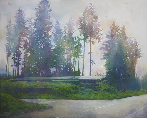 """HWY 101″, paintings by Erin McSavaney. Vancouver."