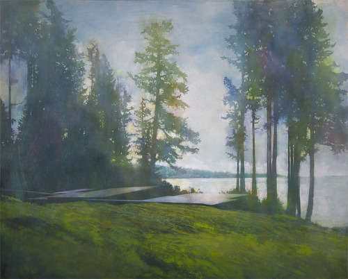 —this makes me miss visiting the lake. Paintings by Erin McSavaney (via booooooom)