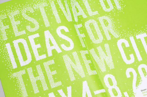 Identity for the Festival of Ideas for the New City, founded by the New Museum. Designed by NR2154.