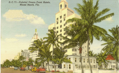 oldflorida:  The National on Miami Beach, 1940's. (Rick Harlowe Collection)