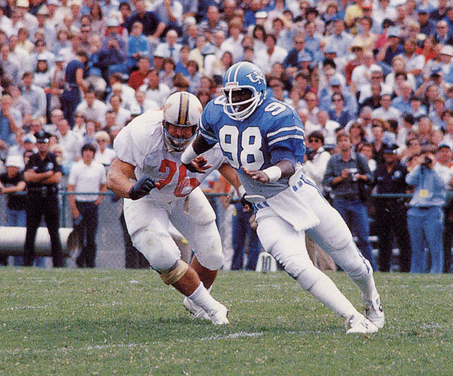 North Carolina linebacker Lawrence Taylor rushes the quarterback during a 1978 game against Maryland. The Tar Heels were punished by the NCAA's Committee on Infractions Monday and received a one-year postseason ban and will eliminate 15 scholarships over the next three years. (Getty Images) STAPLES: UNC case shows how reward still outweighs risk for cheating