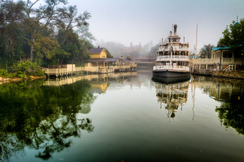 Magic Kingdom - On Foggy Morning by SpreadTheMagic on Flickr.