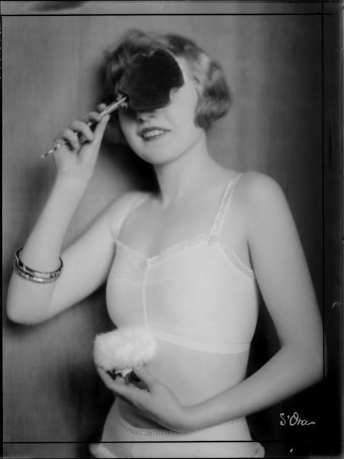 "soyouthinkyoucansee:  Soyothinkyoucansee Portrait of the day ""Masked"" lady ( powder power)  Fashion Photography 1920"