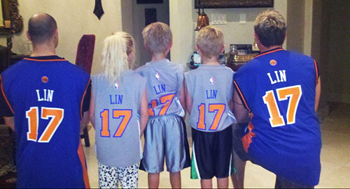 3/12/12 Fan Pic Of The Day - Linsanity, all in the family