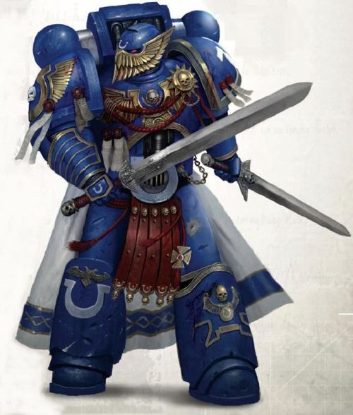 theemperorwatches:  Ultramarines Honour Guard.