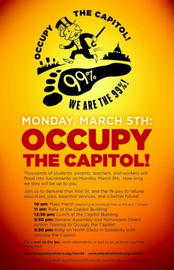 Flyer from Occupy the Capitol Action