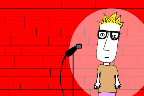 Working on an animation in which I find a clearinghouse for jokes that are too stand-uppy for whatever it is I do.