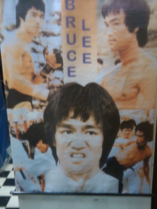 Photography Of Dres Mera-Bruce Lee Poster @ Kung Fu Karate Equipment in Chinatown-ID