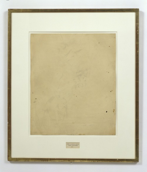 toomuchpossibility:  Erased De Kooning Drawing. Robert Rauschenberg