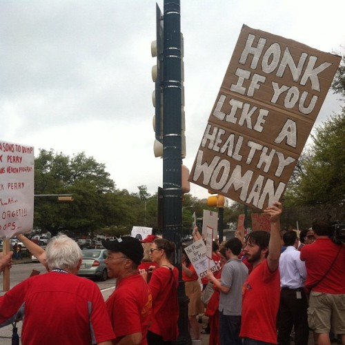 pptexastour:  *honk, honk!* Loving the support for women's health at the #seeingred protest in Austin this afternoon. Such a nice welcome to the city. Hope to see y'all at our rally this evening!