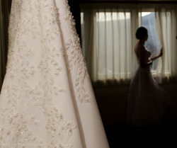The bride on her wedding day. Just one of my earliest photos from a wedding I recently shot. I really like how it turned out.