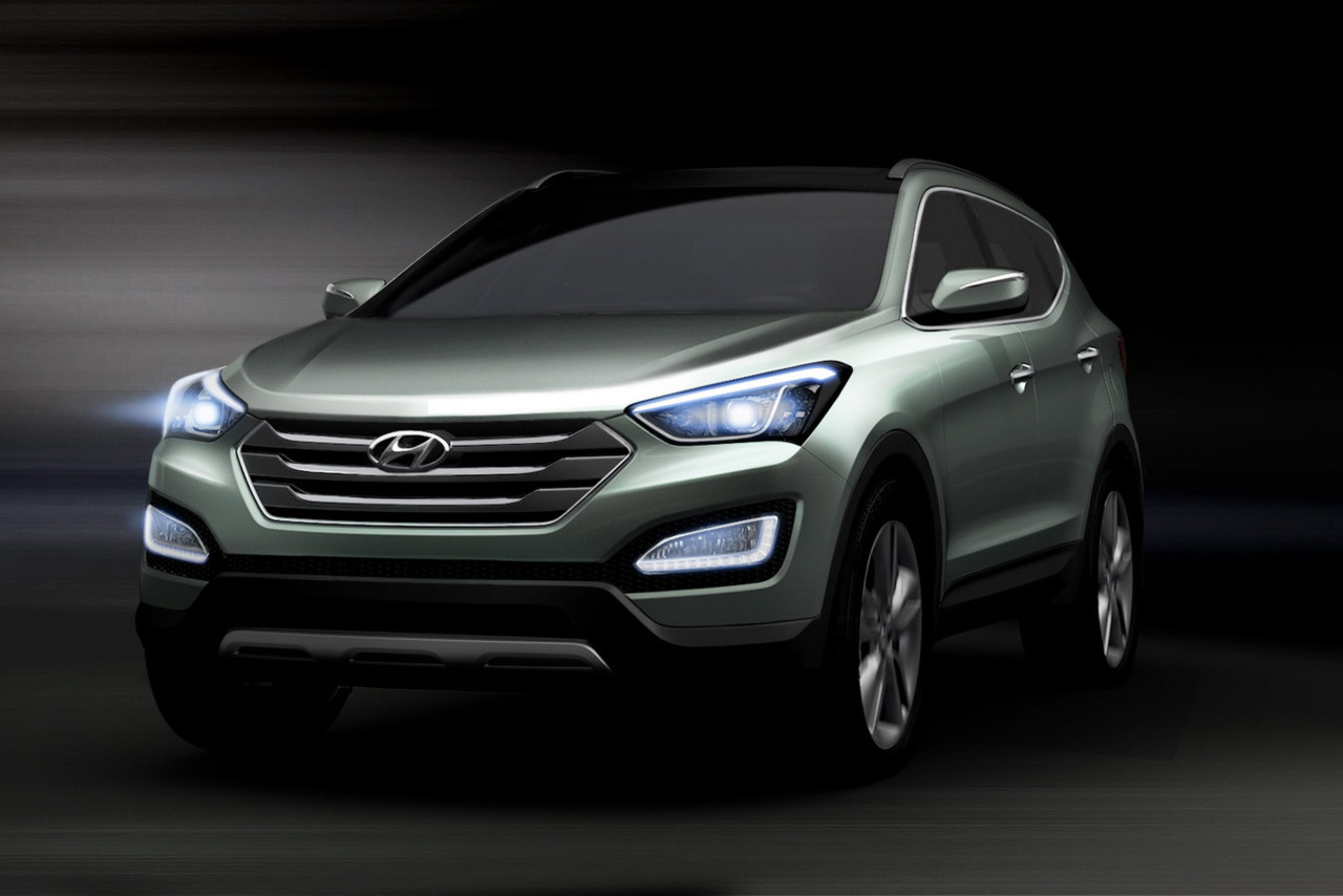 "Preview: 2013 Hyundai Santa Fe (Render)  The South Korean carmaker says that the third generation Santa Fe embodies an evolution of the firm's 'Fluidic Sculpture' design language named 'Storm Edge'. What this translates to is a more chiseled shape with a boxier front end than the frumpy current model.  ""The all-new Santa Fe, whose core product concepts are ""Refinement,"" ""Smartness"" and ""Practicality, "" is expected to be a hit in the global SUV market, offering the best value to customers in every aspect, with its differentiated design, cutting-edge technologies, good fuel economy and practical use of space,"" said Hyundai in a statement.  The new Santa Fe is expected to begin rolling out in global markets after its world premiere in New York, with more specific details to become available at a later date.    (vía Carscoop)"