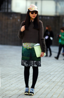 (via Susie Bubble at Erdem | Street Fashion | Street Peeper | Global Street Fashion and Street Style)