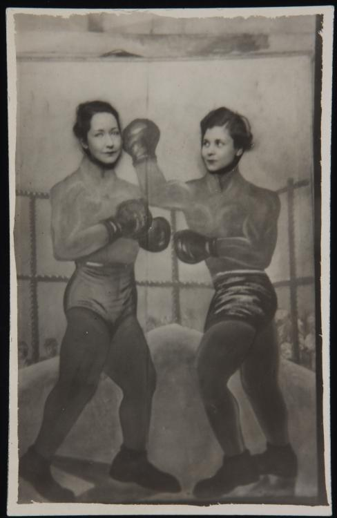 Louise Crane and the poet Elizabeth Bishop as amateur boxers